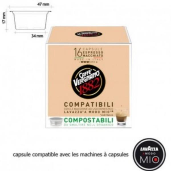 16 capsules bio espresso macchiato - lavazza a modo mio -dluo proche