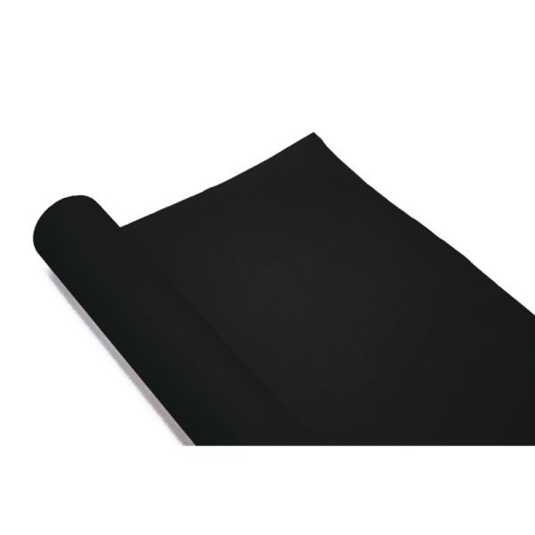 chemin de table papier rouleau uni noir (0,4 x 10 m)