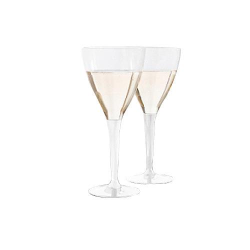10 verres à vin cristal transparent 15 cl