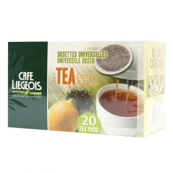 dosettes pour senseo®  thé noir lemon & lime  café liégeois x 20