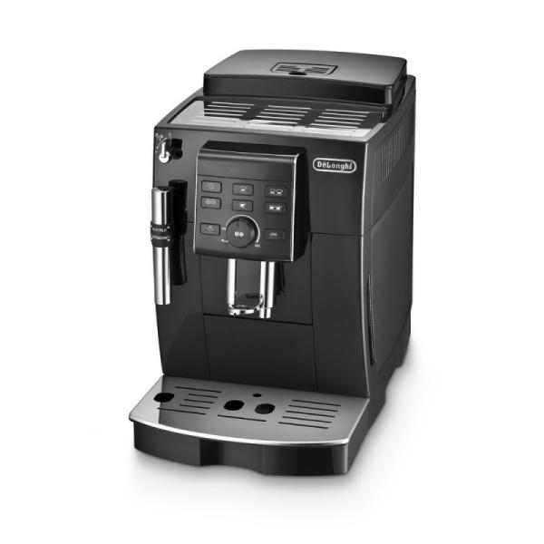 machine à café noire broyeur à grains ecam de'longhi ecam 23.140.b