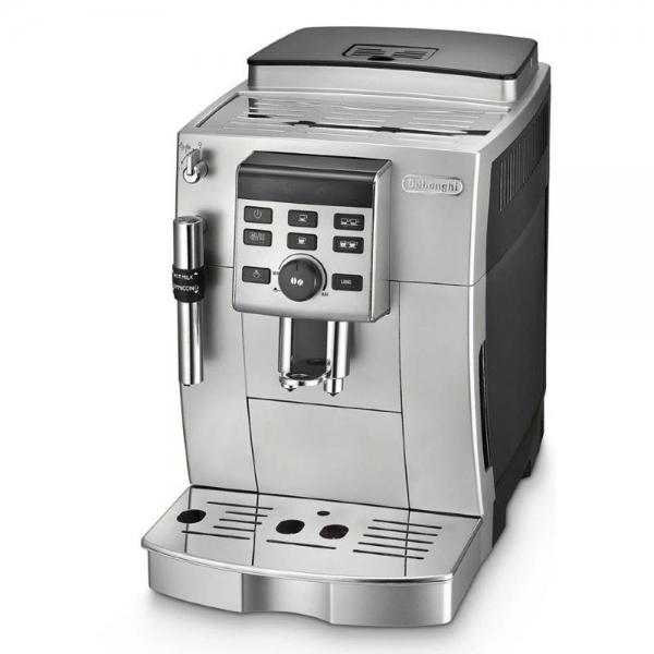 machine à café argent broyeur à grains de'longhi ecam 23.140.sb