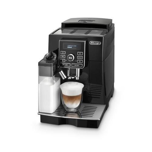 machine à café noire broyeur à grains ecam de'longhi ecam 25.482.b
