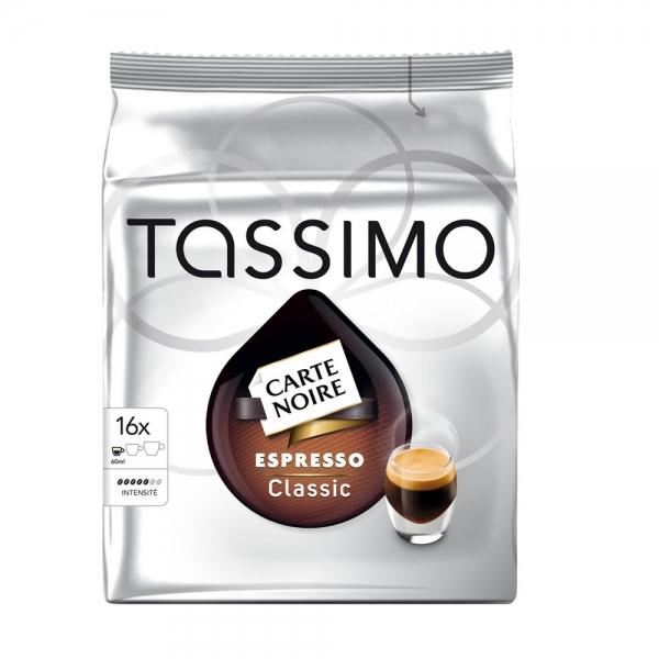 16 dosettes tassimo carte noire espresso classic