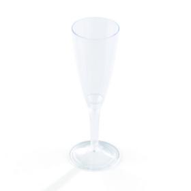 flûte à champagne en plastique transparent (10 cl) x 10