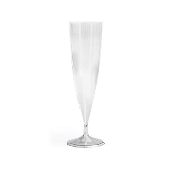 flûte à champagne monobloc de luxe design transparent (13 cl) x 10