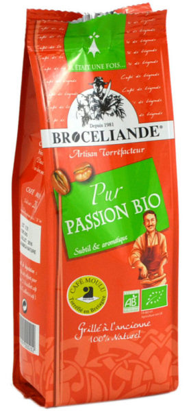 café moulu bio brocéliande pur passion - 250 g