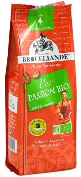 café moulu bio brocéliande pur passion - 250 g