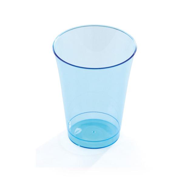 10 verres en plastique rigide bleu 20 cl