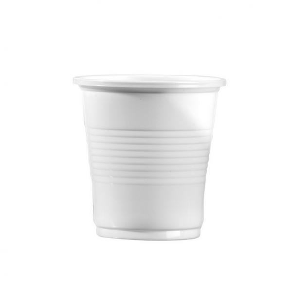 gobelet en plastique blanc 8 cl x 100