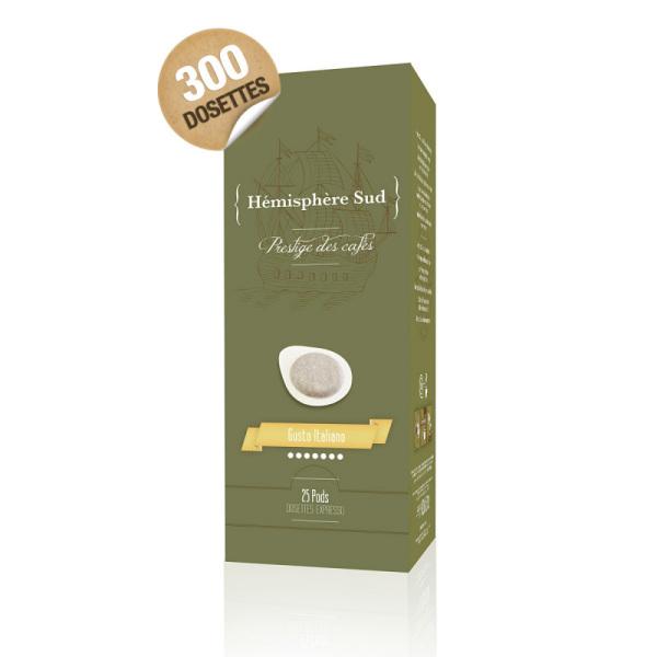 dosettes ese café italbar goût italien hémisphère sud x 300