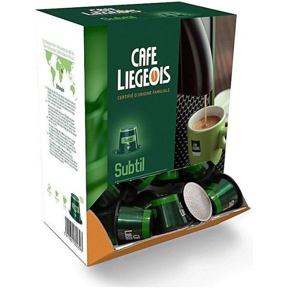 50x capsules compatible nespresso® subtil - café liegeois
