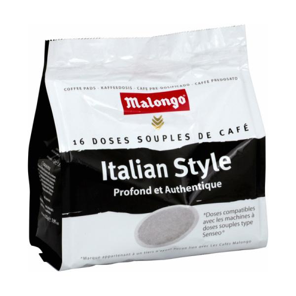 16 doses souples senseo italian style