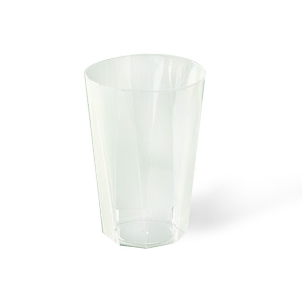 verre octogonal en plastique rigide transparent (25 cl) x 20