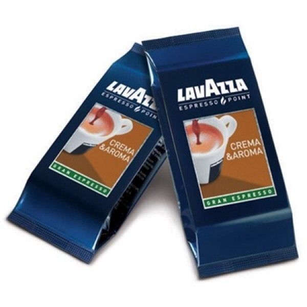 capsules café lavazza espresso point - crema et aroma - granespresso : boite de 100 capsules