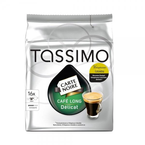 16 dosettes tassimo carte noire café long délicat
