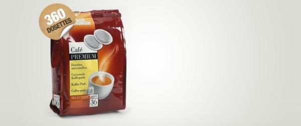 dosettes pour senseo® premium sélection brut café liégeois x 360 dluo passée 05/2019