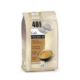 dosettes tradition fort pour senseo® premium café liégeois x 48