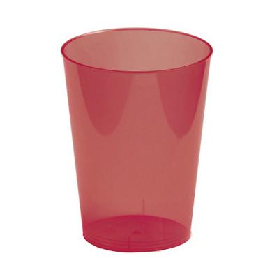 verre en plastique rigide bordeaux (30 cl) x 6