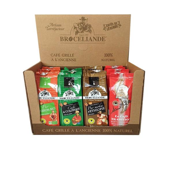 panaché café moulu 100% arabica brocéliande - 12 x 250 g (dluo proche)