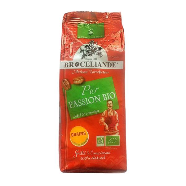 café en grain passion bio 100% arabica brocéliande - 250 g