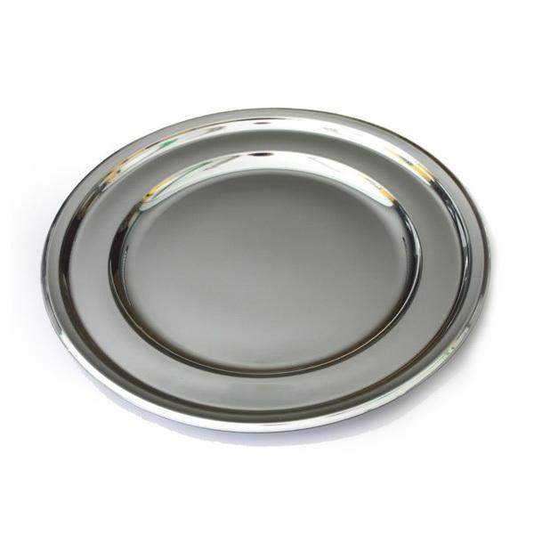 plat de présentation / sous-assiette ronde argent (30 cm) x 5