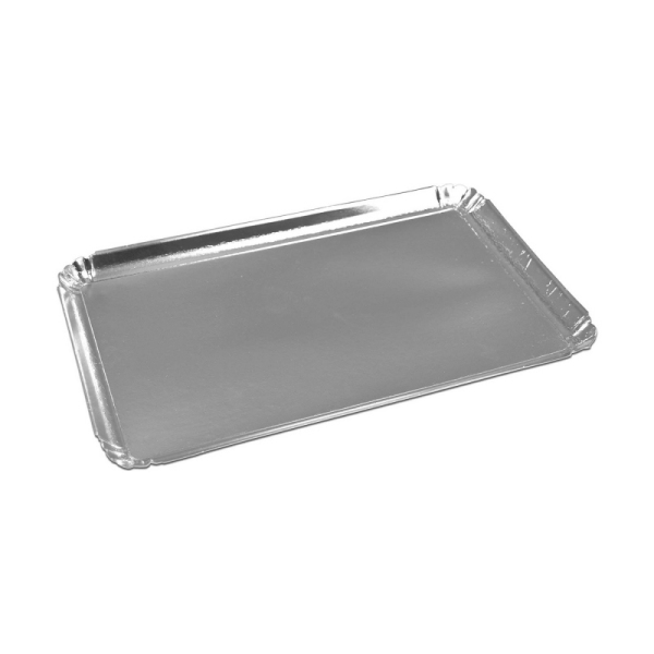 plateau de service rectangle argent (25 x 34 cm) x 25