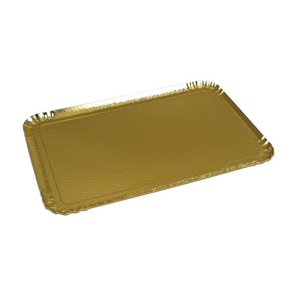 plateau de service rectangle or (25 x 34 cm) x 25