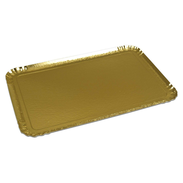 plateau de service rectangle or (28 x 42 cm) x 25