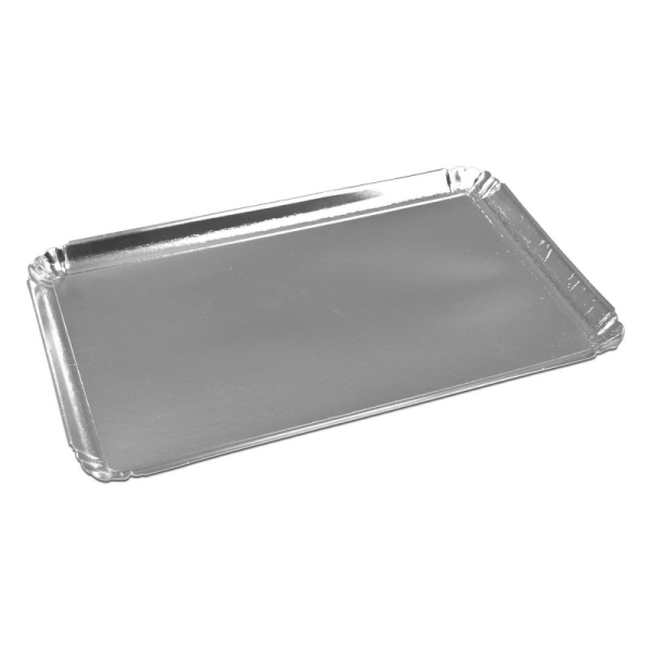 plateau de service rectangle argent (28 x 42 cm) x 25