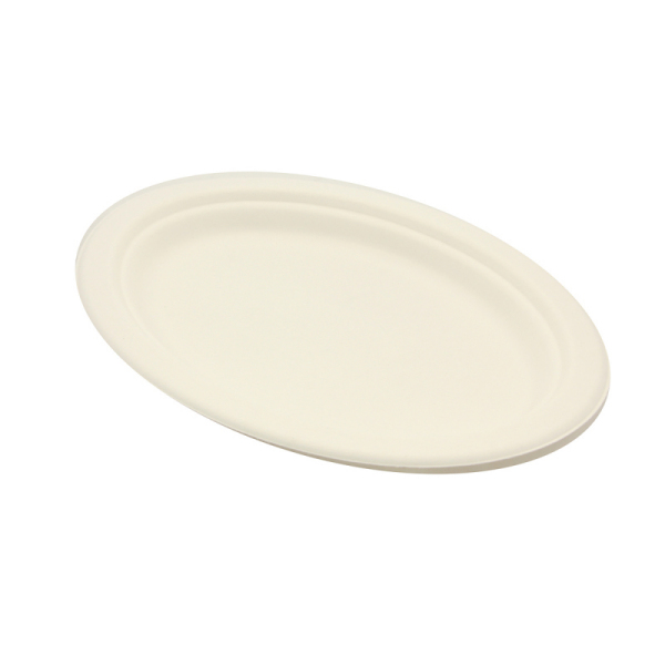 assiette ovale biodégradable be pulp (26 x 19 cm) x 50