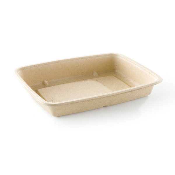 barquette biodégradable rectangle basse (650 ml) x 75