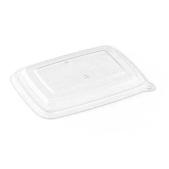 couvercle biodégradable rectangle pour barquette x 75