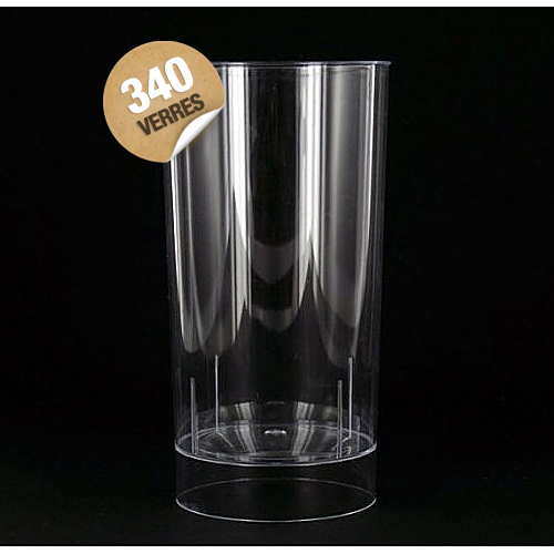 verre plastique cristal transparent long drink (20 cl) x 420
