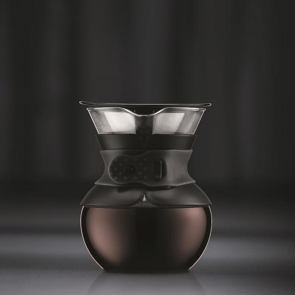 cafetière pour over bodum® filtre en titanium doré 50 cl noir