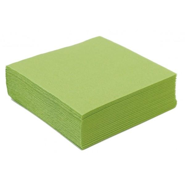 serviette cocktail papier micro gaufrée vert amande (25 cm) x 50