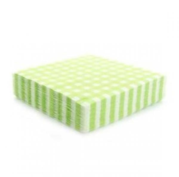 20 serviettes vichy - vert