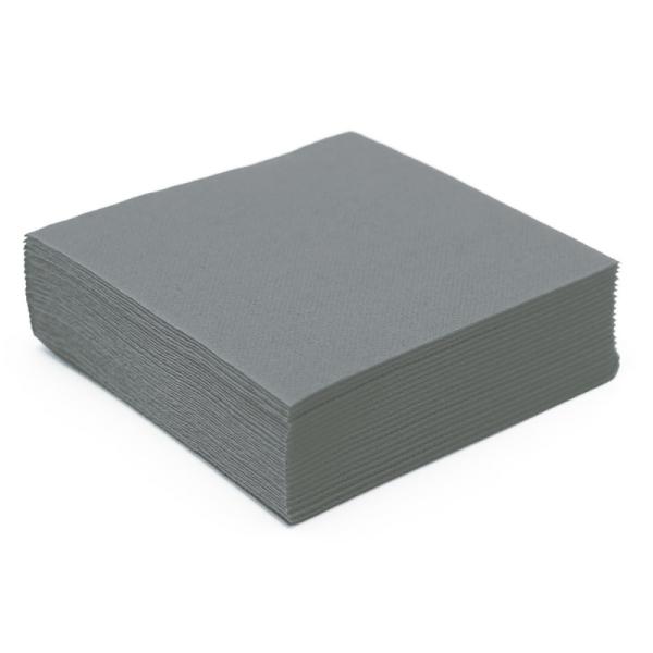 serviette papier micro gaufrée gris (38 cm) x 50