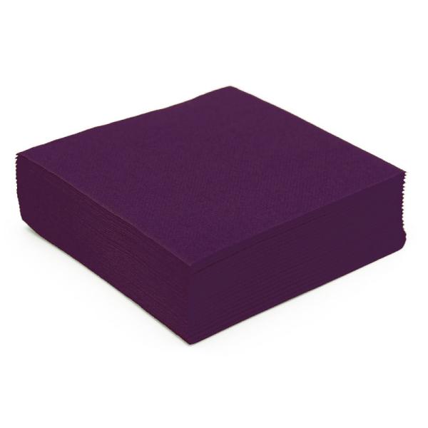 serviette papier micro gaufrée prune (38 cm) x 50