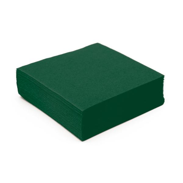 serviette cocktail papier micro gaufrée vert sapin (25 cm) x 50