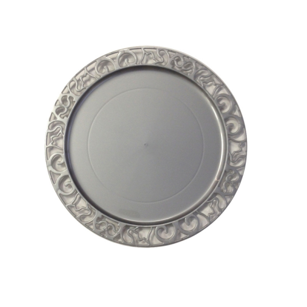 sous-assiette ronde argent (30 cm) x 4