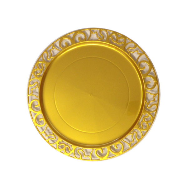 sous-assiette ronde or (30 cm) x 4