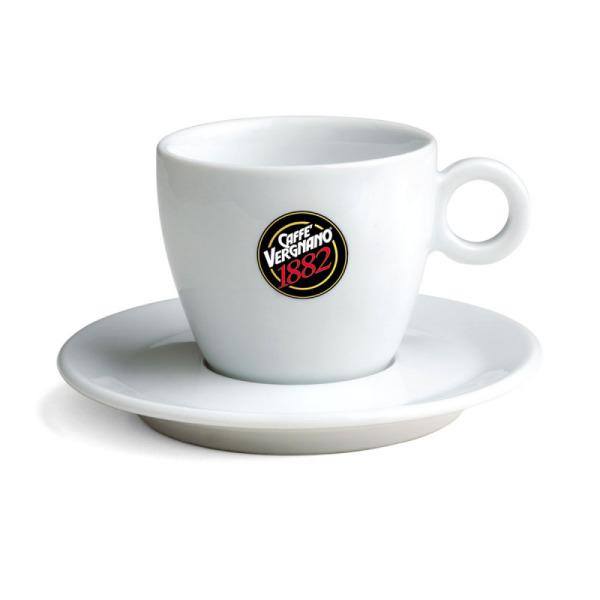 tasse pour cappuccino en porcelaine blanc caffè vergnano x 6
