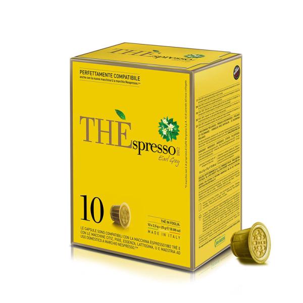capsules nespresso® compatibles earl grey the'spresso caffè vergnano x 10