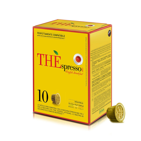 capsules nespresso®  compatibles the'spresso english breakfast  caffè vergnano x 10