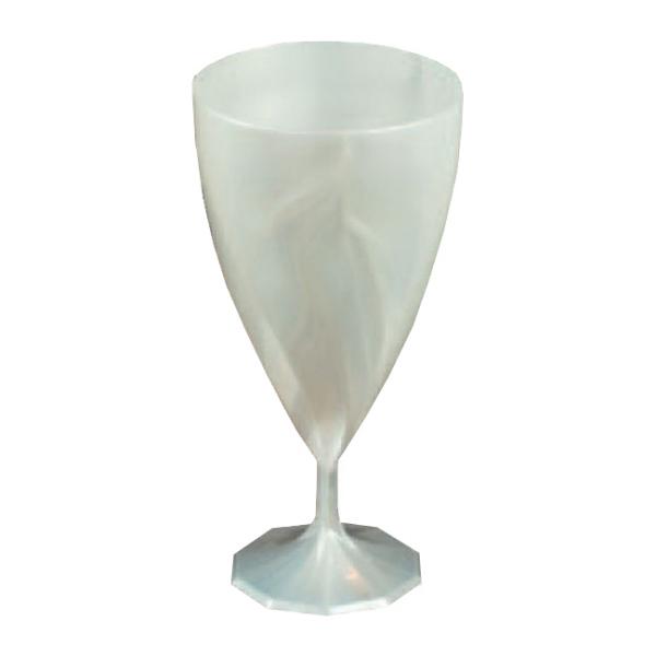 verre à eau jetable design blanc nacré x 6