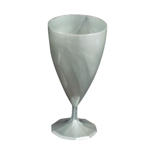 verre à vin jetable design argent x 6
