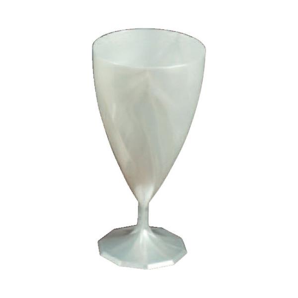 verre à vin jetable design blanc nacré x 6