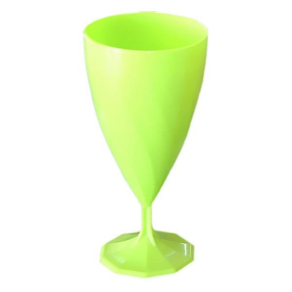 verre à vin jetable design vert anis x 6