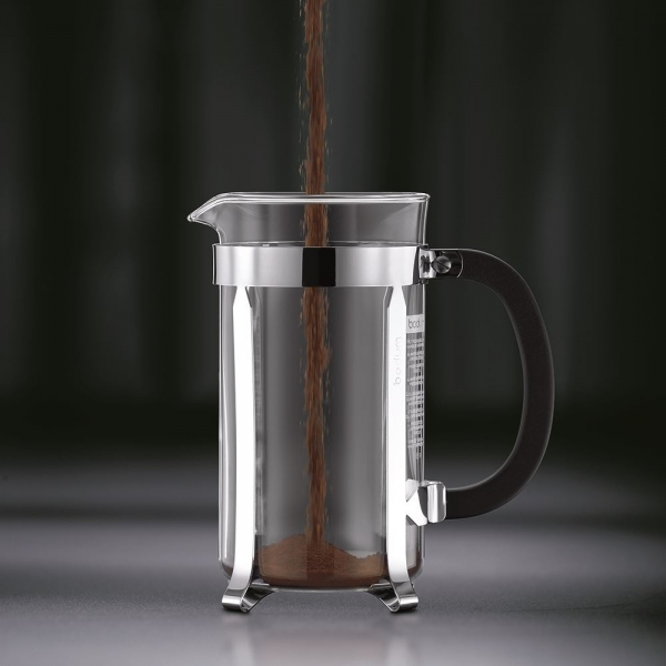 cafetière à piston chambord bodum® 4 tasses 0.5 l brillant